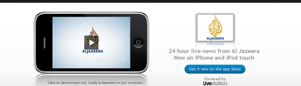 Al Jazeera on iPhone : Mobile and TV - Together at last | Livestation