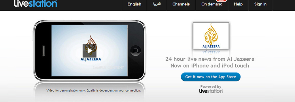 Al Jazeera on iPhone : Mobile and TV - Together at last | Livestation