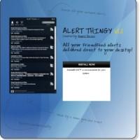 Alert Thingy: A desktop app for FriendFeed.com