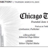 Chicago Tribune masthead -- chicagotribune.com