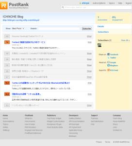Details » ICHINOHE Blog » PostRank