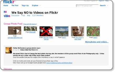Flickr: We Say NO to Videos on Flickr