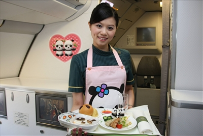 Flight attendant of EVA AIR