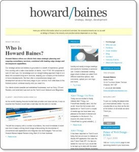 Howard Baines - Strategy, Design, Development