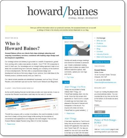 Howard Baines - Strategy, Design, Development