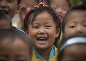 Kids in Hamhung school - North Korea