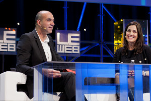 Loic LeMeur with Joanna Shields,  VP & Managing Director EMEA of Facebook at LeWeb 2011