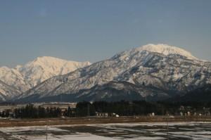Moutains of Niigata viewed from Joetsu Shinkansen