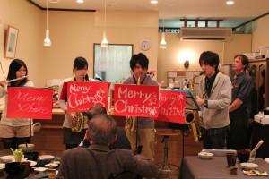 "Yoru Cafe (Night Cafe), Machi Cafe ""Link"" operated by Keiwa College, Shibata, Niigata"