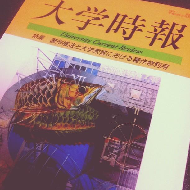 大学時報 2012年9月号に寄稿しました。 #keiwa