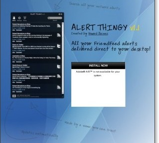 Alert Thingy: A desktop app for FriendFeed.com