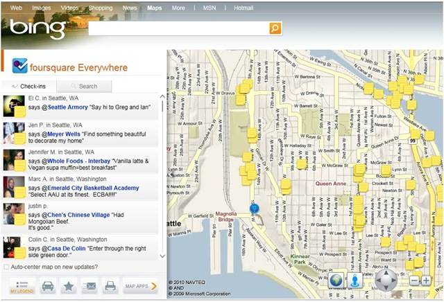 Bing Adds Foursquare Data to Maps