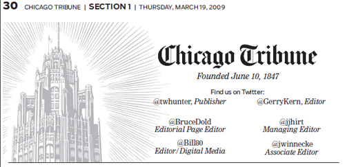 Chicago Tribune masthead -- chicagotribune.com