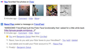 FriendFeed Adds Flickr Faves