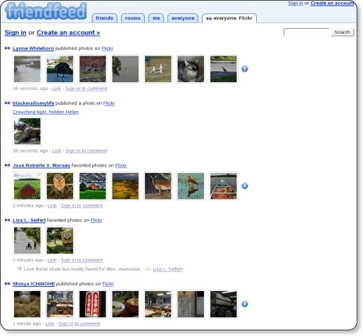 FriendFeed - Flickr items