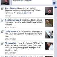 Screenshot of Facebook Desktop Client from Seesmic (Air App) [RT]
