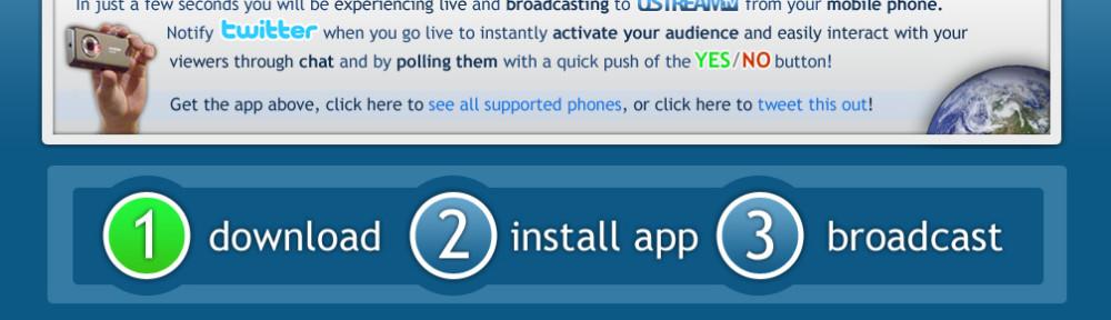 Ustream Mobile Application