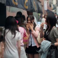 Yakitori and girls