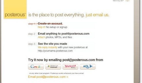 posterous - The place to post everything. Just email us.